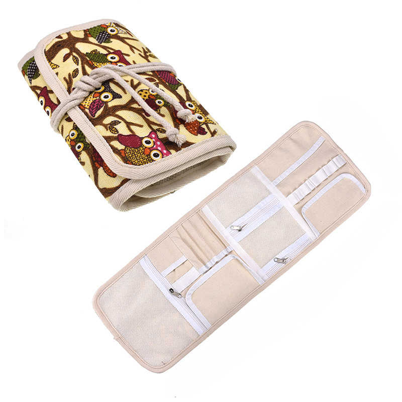 Empty Crochet Hook Pouch Knitting Kit Case Big Capacity Crochet Needle Scissors Ruler Sewing Accessories Household Organizer Bag