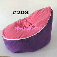 Comfortable Baby PINK top with PURPLE base Sleeping Bag Infant Bean Bag Child Chair Without Fillings