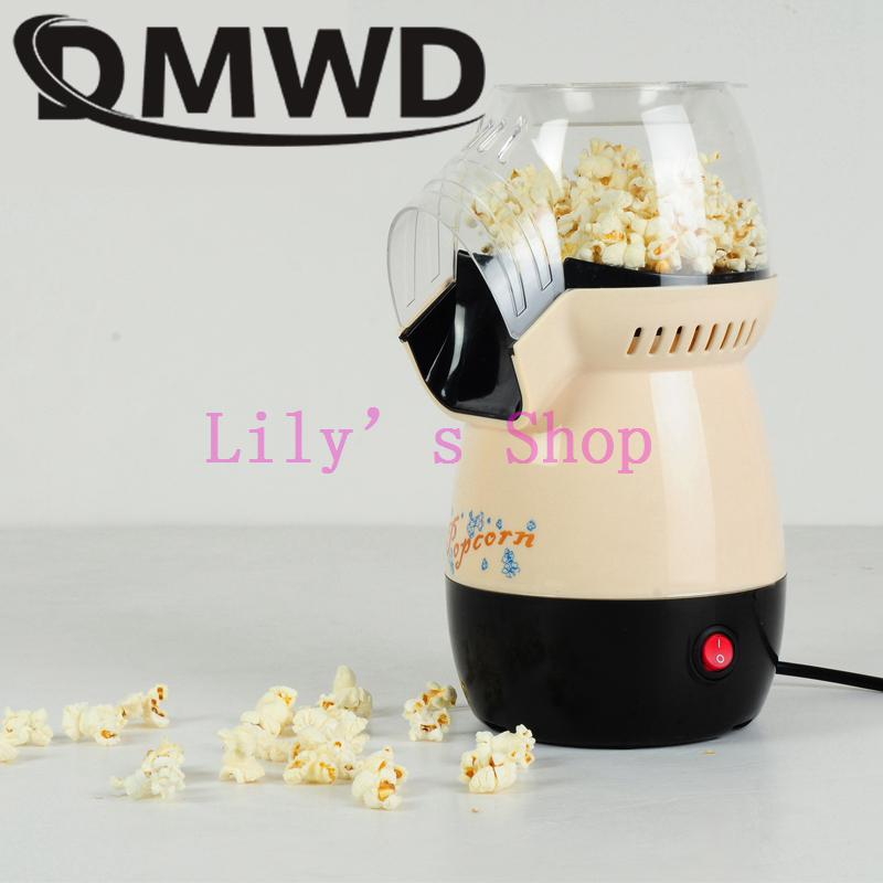 DMWD MINI Hot Air Popcorn Making Machine Household Corn Popper DIY Portable Electric Mini Popcorn Maker Children gift EU US plug цена и фото