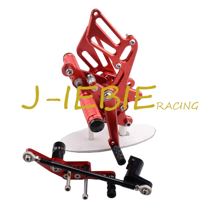 CNC Racing Rearset Adjustable Rear Sets Foot pegs Fit For Honda CBR1000RR 2008-2015 RED