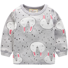 Lovely Rabbits Printed Cotton Baby Girl's Pajamas
