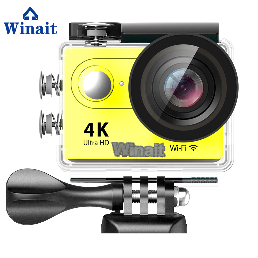 Winait Ultra HD 4k Waterproof action camera, full hd 1080p 60 fps with 2.0 TFT display sports camera free shipping