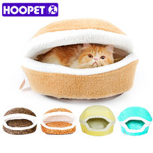 Cozy, warm burger-shaped cat bed / house