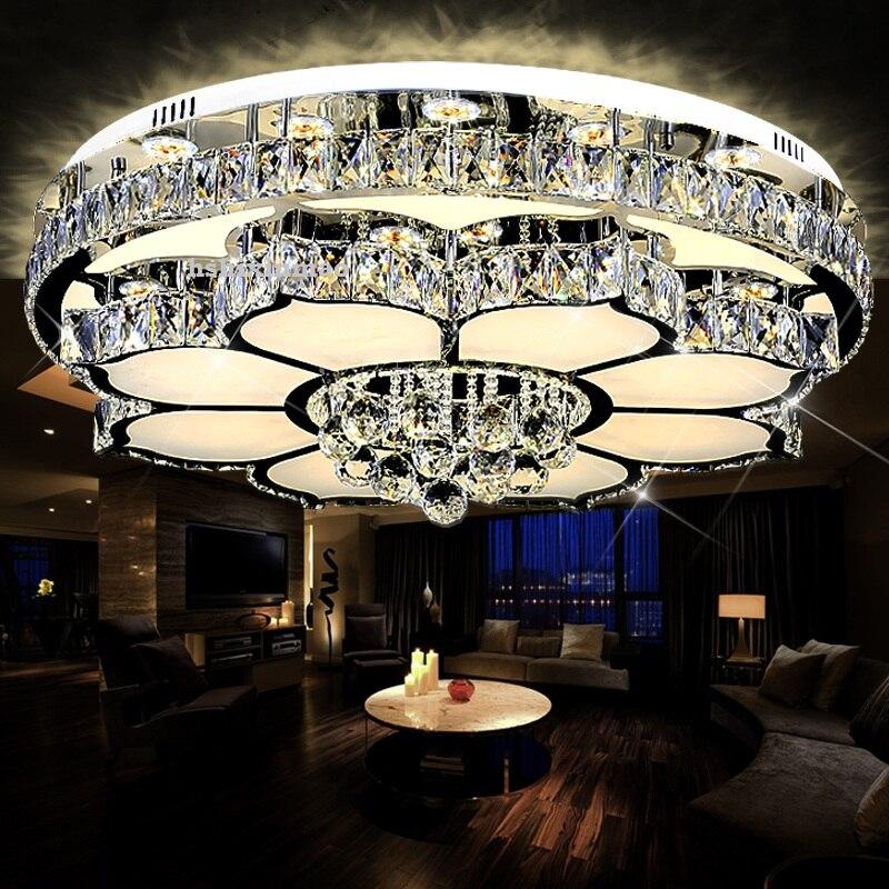Wohnzimmer Lampe Kristall Rund Led Deckenleuchte Moderne Einfache Einzigen Schicht Doppelschicht Warme Schlafzimmer Esszimmer