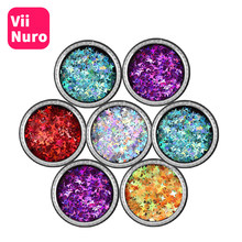 ViiNuro Star Paillette Nail Art Decorations Color Nail Dccessories For Manicure DIY Nail Jewelry Glitter Decoration Decor Tools(China)