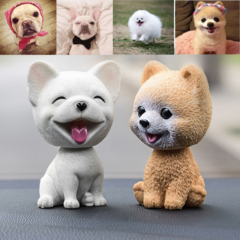 Toys Ornament Cute Dog Doll Car Nodding Dog Shakes Head Shaking Dog Car Styling For Decoration Furnishing Articles Car/Household