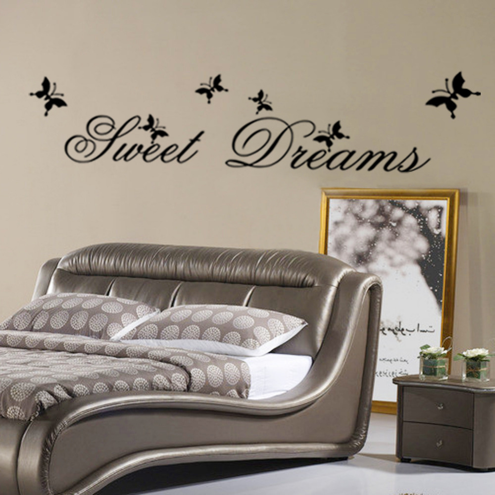 Modern Wall Sticker Sweet Dreams Vinilo Arte Mural BRICOLAJE calcomanías arte de