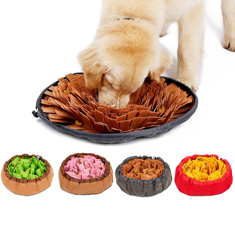 Pet Toys Dog Sniffing Mat Pet Puzzle Toy Sniffing Training Pad Activity Blanket Feeding Mat Dog Release Stress Training Blanket