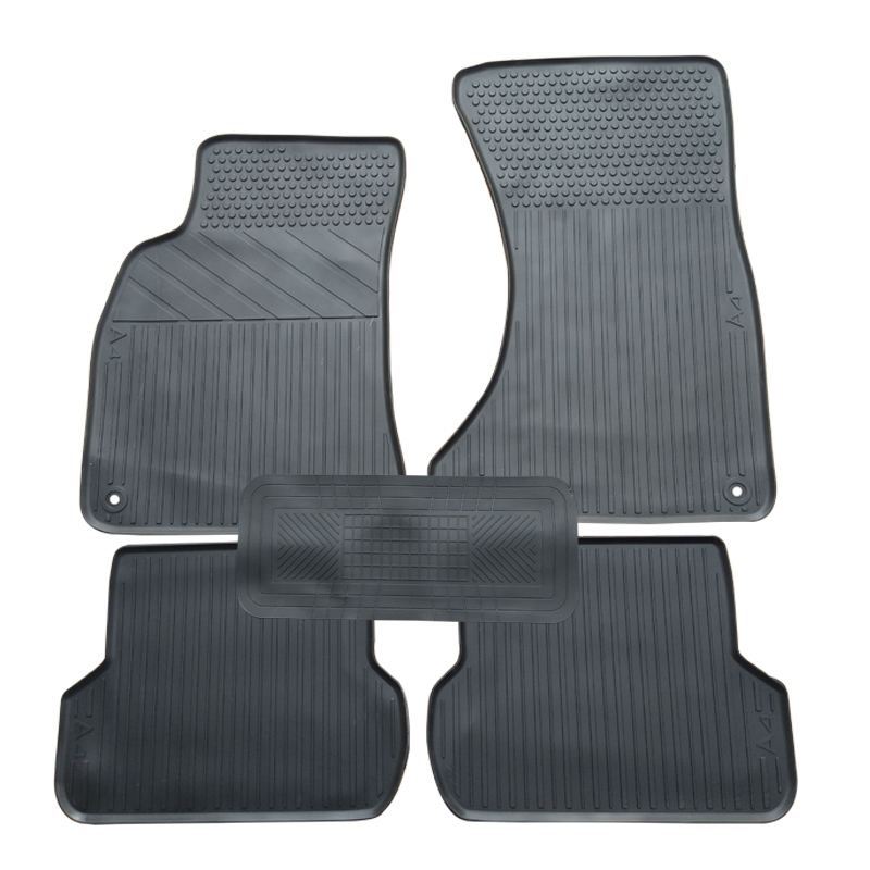 Special rubber car floor mats for 2008-2014 year AUDI A4 durable waterproof latex carpets for A4 special rubber latex green car trunk mats case for benz smart desinged for original car model