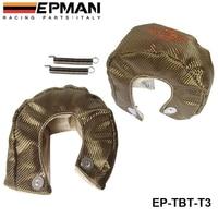 Corrida t3 titanium turbocompressor cobertor de calor escudo barreira 1 800 graus temp rating EP TBT T3|turbo blanket heat shield -