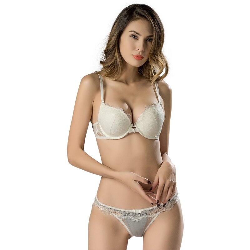 Lace Comfortable Brassiere   Bras   Embroidery Lingerie Fashion Sexy   Bra     Sets   Plus Size Cup Thin Cotton Underwear Women   Set   12330
