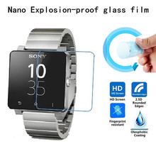 Nano Explosion proof Soft Glass Protective Film Screen Protector for Sony SmartWatch 2 SW2