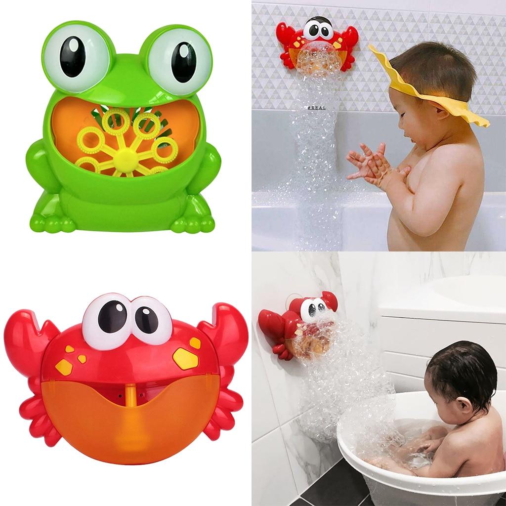 2X Crab Bubble Maker Machine Musical Bubble Automated Bath Baby Toy Crab Bath Bubble Toy Bath Bubble Maker Machine