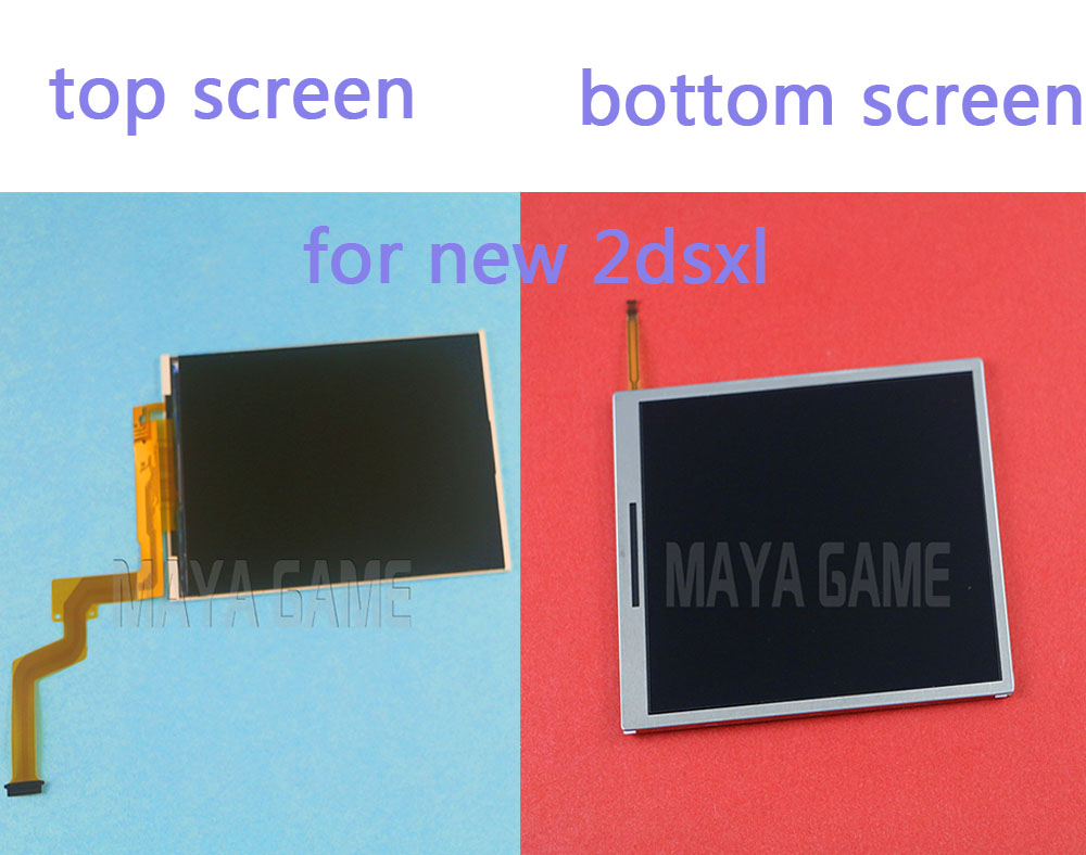 2018 Original New Top LCD bottom lcd <font><b>screen</b></font> Replacement For New <font><b>2DS</b></font> <font><b>XL</b></font> for new 2dsxl For New <font><b>2DS</b></font> LL Lcd <font><b>Screen</b></font> No Dead Piexl image