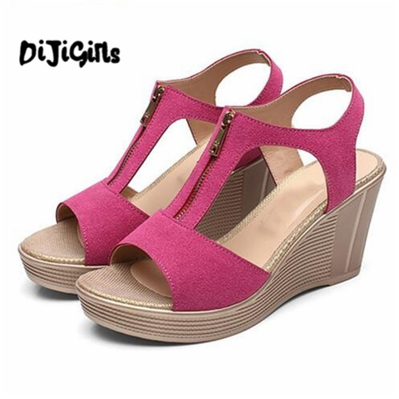 Plus Size Women Sandals Platform Women Shoes Wedges Sandals Open Toe Summer Sandals nemaone new 2017 women sandals summer style shoes woman platform sandals women casual open toe wedges sandals women shoes