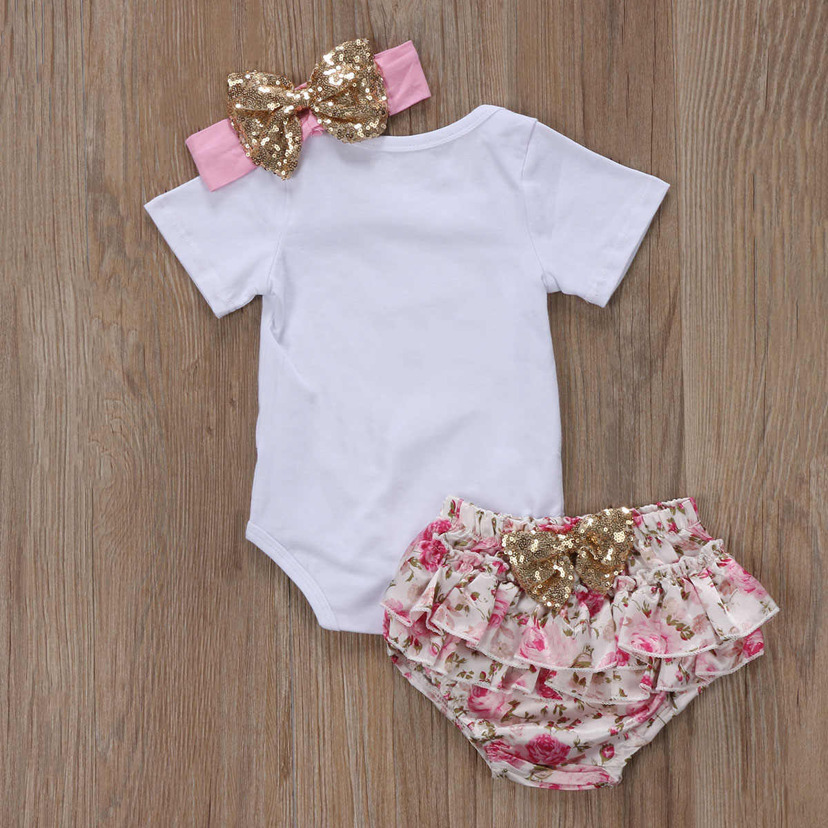 Pudcoco Bebek Kız çiçekli tulum + Tutu Dantel Şort Pantolon Prenses Kıyafet Giysi Set değer bekleme