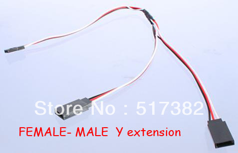 Free shipping 300mm 30cm servo extension cable 30 core for JR futaba connector