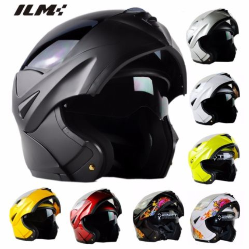 ILM Motorcycle Flip Up Helmet with Inner Sun Visor Racing Motocross capacete casqueiro casque DOT Approved Matte Black S M L XL free shipping 2015 new flip up motorcycle helmet double lens inner sun visor dot approved casco capacete