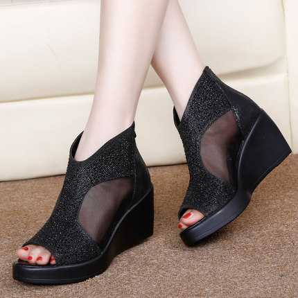 ФОТО Real Image Women's Sandals Wedges 2016 Bow Hot Sale Cheap White Red Black Evening Sandals Sandales Femmes S3392