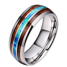 MINCN 8MM Black Titanium stainless steel Ring For Men Women Wedding Bands Trendy Rainbow Groove Rings Jewelry USA Size 6 to 13