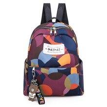 Women's Backpack School Bags for Teenage Girls Korean Backpack Women Bookbag Mochila Feminina Bagpack Camouflage Oxford Letter