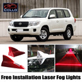 Free Install For Toyota Land Cruiser 70 100 200 V8 Roraima / Solar Energy Shark Fin Laser Fog Lights Multiple Mode Warning Lamp