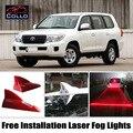 Livre Instalar Para Toyota Land Cruiser 70 100 200 V8 Roraima/Barbatana de Tubarão Energia Solar Aviso de Laser Luzes de Nevoeiro de Modo Múltiplo lâmpada