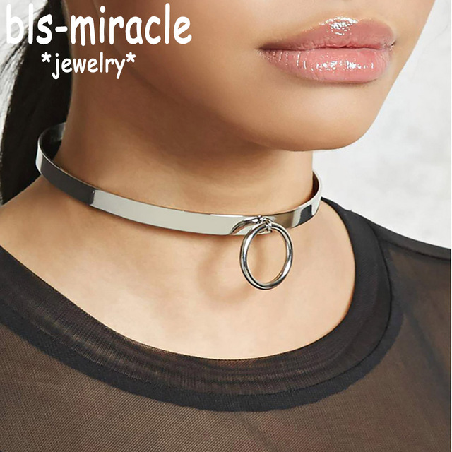 Bls-miracle Street Beat Necklaces With Round Personality Punk Necklace Choker Femme Colares Statement Party Jewelry 2018New N457