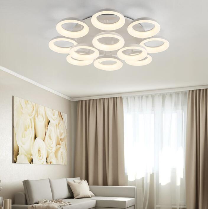 Runde Moderne Led Deckenleuchten Für Wohnzimmer Schlafzimmer Weiße Farbe  AC85 265V Stilvolle Design Innendeckenleuchte In Runde Moderne Led  Deckenleuchten ...
