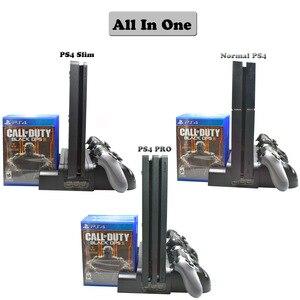 Image 5 - מטען PS4/PS4 Slim/ PS4 פרו כפולה בקר מטען קונסולת אנכי קירור Stand טעינת תחנת פלייסטיישן 4 גבוהה איכות