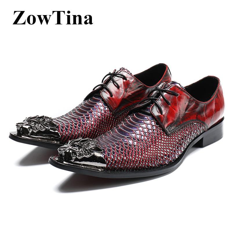Sapatos Oxford Red Homens Vermelho Wine Toe Vestido Metal Casamento De Lace Zapatillas Vinho Do Hombre Vintage Homem Projeto Apontou Formal Up qq1AI