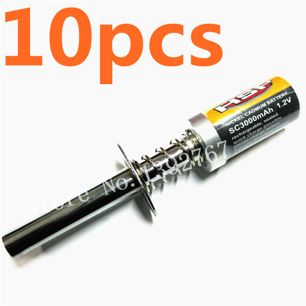 Wholesale 10pcs HSP 80101 3000mAh Rechargeable Glow Plug Igniter Ignition Nickel Cadmun Battery For R/C Nitro Buggy Truck Car