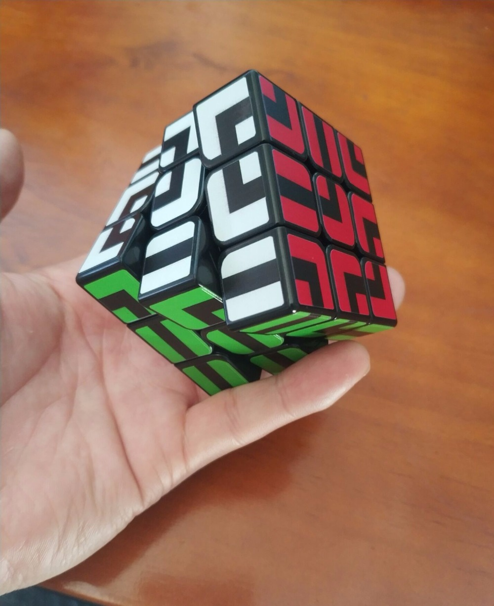 ZCUBE Colorful Sticker 3x3x3 Cube 3x3 Cubing Speed  Professional 3 Player Triangle Shape Twist Educational Kid Toys 4