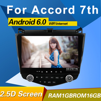 1024*600 Quad core Android 10.1 Car radio GPS Navigation for HONDA Accord 7th 2003 2007 with wifi bluetooth mirror link