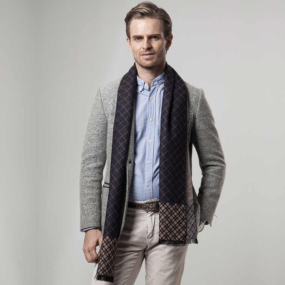 36eced0b89117 2018 Male Scarf Men Winter Scarf Pashmina Cashmere Shawl and Wraps ...