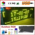 P10 outdoor full color DOUBLE side led display size is 40X15inches display text support usb