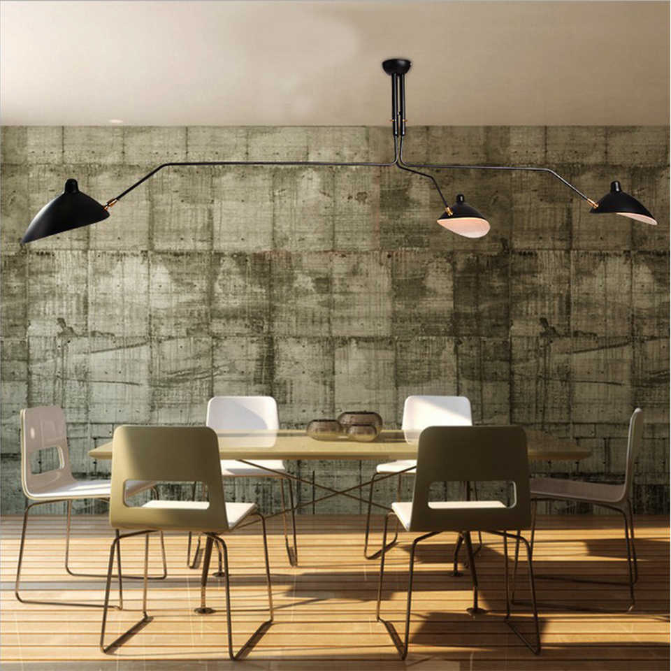 Lampe lumineuse industrielle Simple en araignée, Serge Mouille rétro lampes suspendues nordiques industrielles à l'arche de la lampe ajustable Luminaire de la chambre à coucher salon