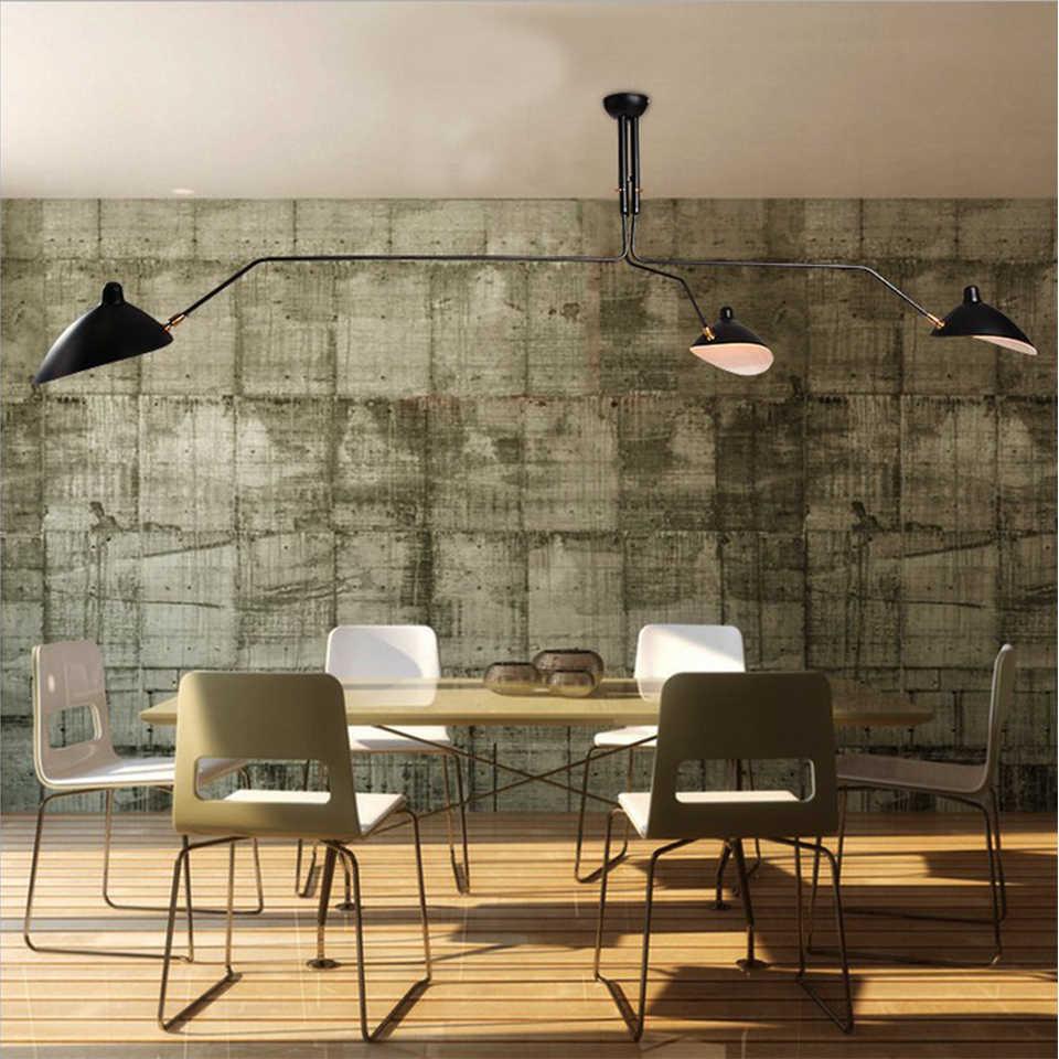 Retro serge mouille luzes pingente nordic industrial simples led aranha lâmpada ajustável sala de estar quarto luminária industrial