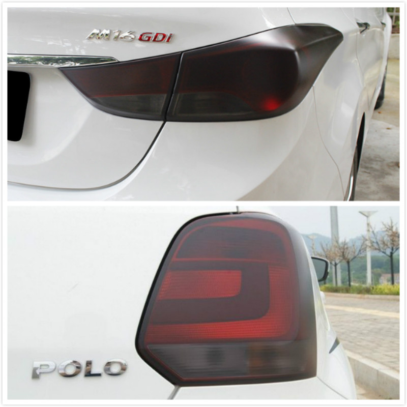 Car Fog Lamp Headlight Taillight Tint Film Sticker For <font><b>VW</b></font> POLO <font><b>Golf</b></font> 4 <font><b>5</b></font> 6 7 <font><b>GTI</b></font> Passat b5 B6 JETTA MK5 MK6 CC EOS Touareg Beetle image