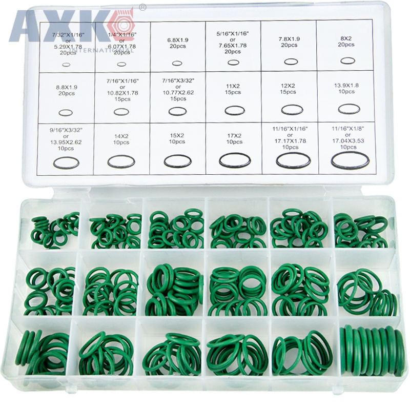 270PCS Fluoride O-ring repair box set seal rubber ring mechanical corrosion-resistant acid and alkali resistant high temperature270PCS Fluoride O-ring repair box set seal rubber ring mechanical corrosion-resistant acid and alkali resistant high temperature