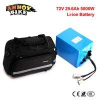 Без налог бесплатная доставка Водонепроницаемый 72 В 5000 Вт 29.6Ah литий ионный eBike Батарея пакет электрический скутер Батарея для электрическо
