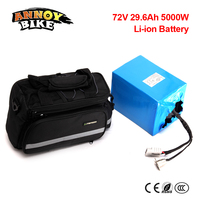 No Tax Free Shipping Waterproof 72V 5000W 29.6Ah Lithium ion eBike Battery Pack Electric Scooter Battery For Electric Bicycle