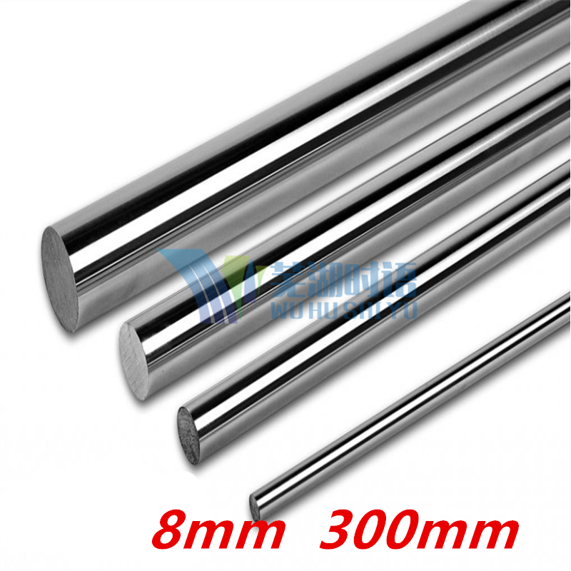 2 pcs 8mm Linear Rod 300mm Chrome Harden Linear Shaft 8mm 300mm long cnc parts 3d Printer Parts 8mm linear shaft group 33pcs l350mm 33pcs l405mm 33pcs l420mm for 8mm rod shaft lm8uu
