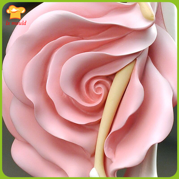 2017 Valentine's Day creative large rose mold  new beauty soft rose silicone diy mold  roses dolls silicone mold