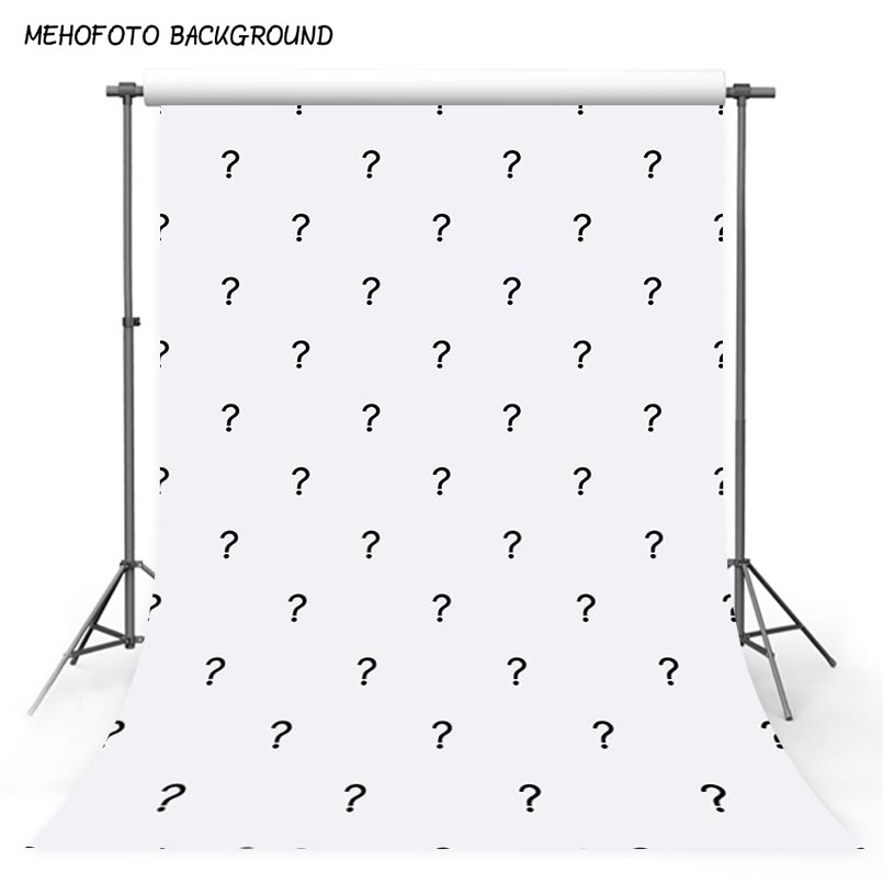 Customized quality vinyl cloth newborn question mark photography background S-2860