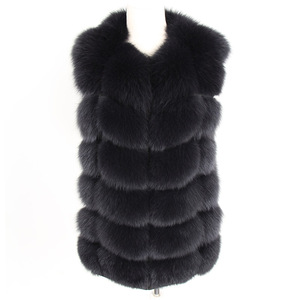 Image 5 - maomaokong real fox fur coat women winter natural fur vest coat natural real fur coat Vests for women   Sleeveless jacket women