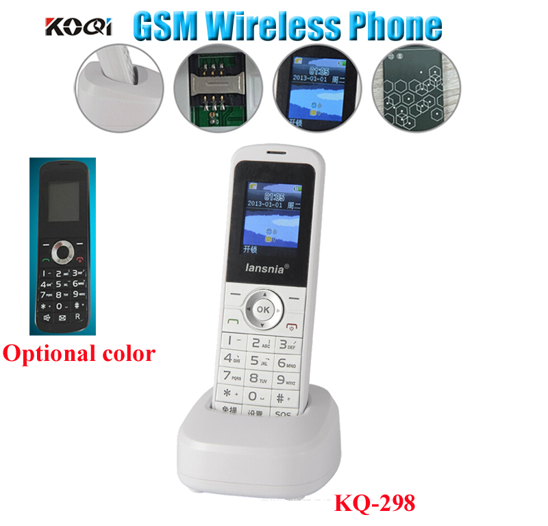 gsm cordless handheld phone portable gsm wireless telephone for home and offfice use in. Black Bedroom Furniture Sets. Home Design Ideas