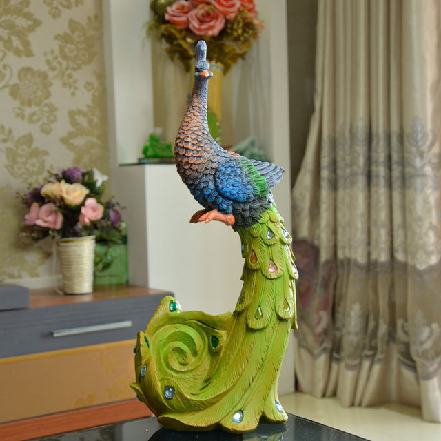 Sri Lanka Peacock Phone Holder Unique Delicate Home Decor Resin Crafts Exquisite Gift Decoration Ornaments