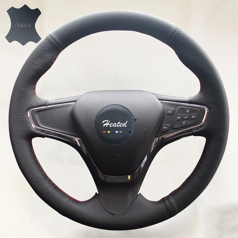 Genuine leather car covers for car steering wheel cover for chevrolet cruze 2015 volt 2016