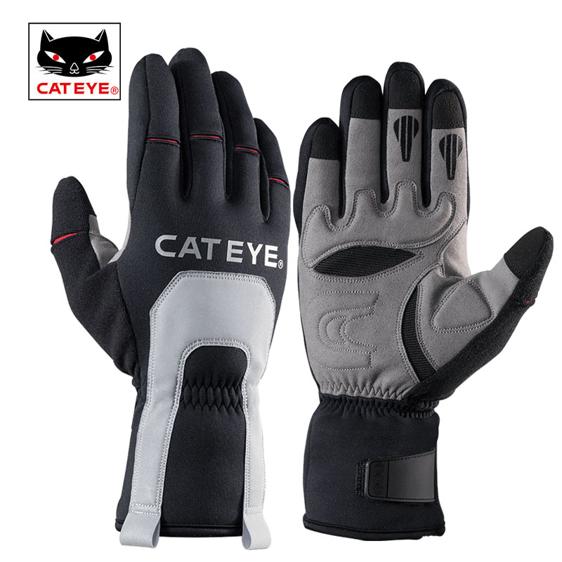 CATEYE Cycling Winter Full Finger Gloves Bicycle Windproof Lightweight Warm Gloves 3 Layers Flexible Outdoor Sports Gloves Mitts cute bear paw plush gloves winter warm thermal children knitted gloves full finger mittens cartoon gloves